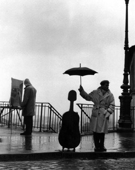 doisneau-un-musician-sur-la pluie